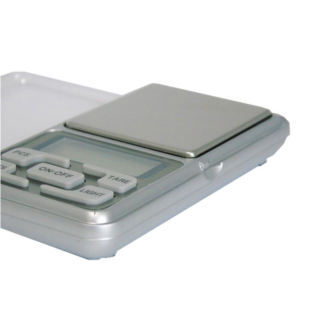 CUHAWUDBA 500g x 0.01g Mini bascula Digital Bascula de Joya Herramientas de Peso de Bolsillo de medicion de de Alta Precision Pantalla LCD: Amazon.es: Hogar