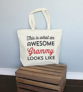 This Is What An Awesome Grammy Looks Like7 Extra Large Tote Bag in Natural Color