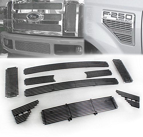 (ZMAUTOPARTS Ford Superduty F250 F350 F450 Upper+Bumper+Fender Vent Billet Grille Combo)