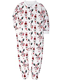 Footed Pajamas Baby Boys Girls Sleeper Long Sleeve 100% Cotton Zip Front Neutral