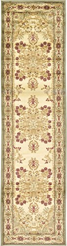 Unique Loom Voyage Collection Traditional Oriental Classic Light Green Runner Rug (3' x ()