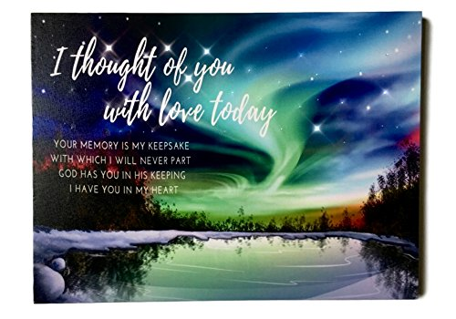 BANBERRY DESIGNS Memorial Wall Art - Lighted Canvas Print with LED and Fiber Optic Lights - I Thought of You with Love Today