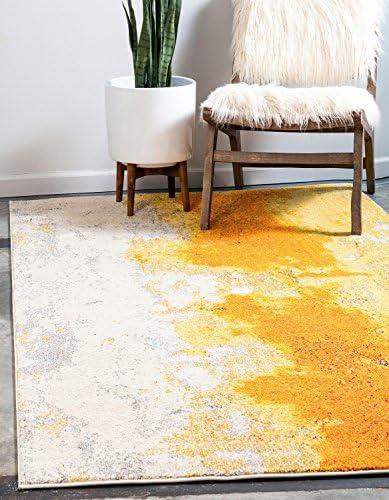 Unique Loom Estrella Collection Vibrant Abstract Yellow Area Rug 9' 0 x 12' 0