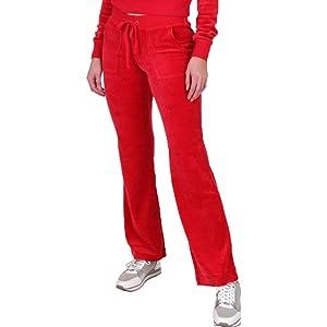 9da2f7af8ab Amazon.com: Juicy Couture Women's Mar Vista Velour Pants Cordial ...