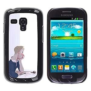 Ihec Tech Boy Réfléchi peinture Art Lettre encre Amour / Coque Etui Coque étui de portefeuille protection Coque Case Cas / for Samsung Galaxy S3 MINI 8190