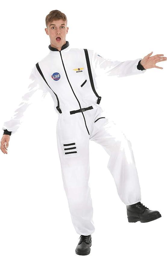 Disfraz de Astronauta Traje Espacial Blanco para Hombres