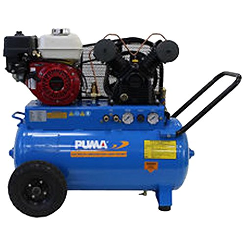 Puma Industries PUN-5520G Air Compressor, Single Stage Gas Powered Belt Drive Series, Honda Engine, 5.5 hp Running, 135 Maximum psi, 20 gal, 202 lb.