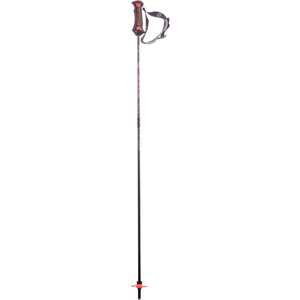 Goode Pure Carbon Ski Poles Classic Orange, 50in by Goode