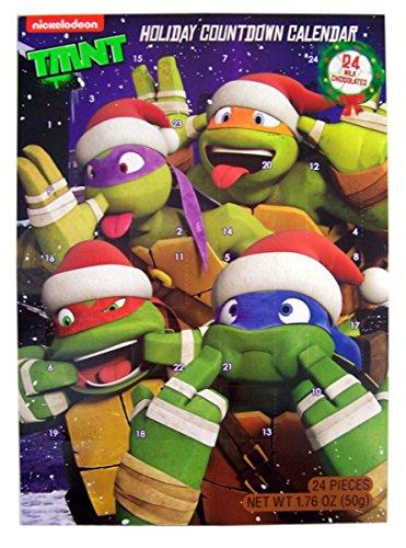 Teenage Mutant Ninja Turtles Chocolate Advent Calendar with 24 Milk Chocolates for Holiday Countdown