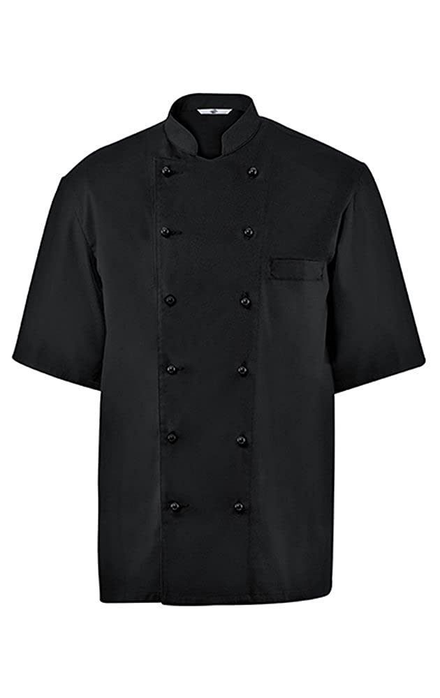 GREIFF Kochjacke Halbarm| Regular Fit | Cuisine Basic | Style 742/5567 | Schwarz, Weiß | Gr.: 42-62 Weiß | Gr.: 42-62