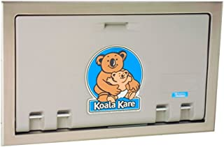 product image for Koala Kare KB100-01ST Baby Changing Station, Recess Mounted Horizontal Plastic w/Stainless Steel Flange - Gray