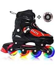 Hiboy Adjustable Inline Skates with All Light up Wheels, Outdoor & Indoor Illuminating Roller Skates for Boys, Girls, Beginners …