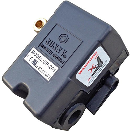 (Sunny Heavy Duty Air Pressure Control Switch, L1, 1 Port, 95-125 PSI, 25 Amp)