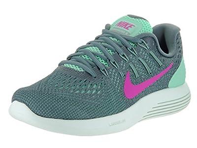 Nike Womens Lunarglide 8 Green Glow/Fire Pink Hst Cnn Running Shoe 9 Women US
