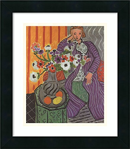 Framed Art Print 'Purple Robe and Anemones, 1937' by Henri Matisse