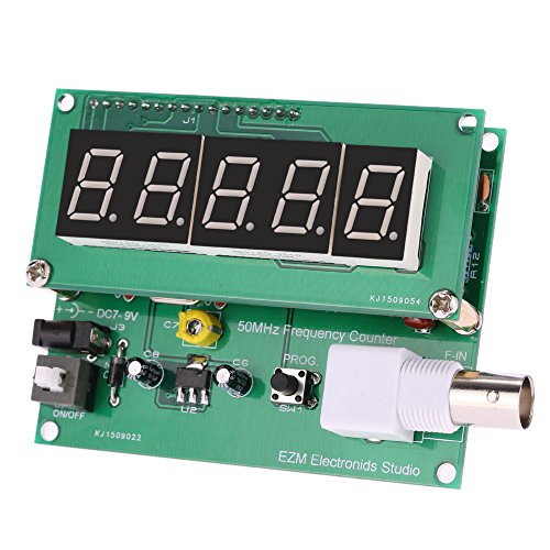 9v Trains (SlimArmor(TM) High Sensitivity frequency counter 1Hz-50MHz cymometer Frequency Meter Counter Measurement Tester Module 7V-9V 50mA DIY Kit)