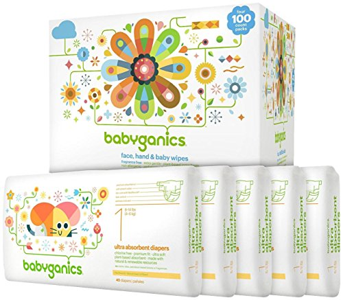 Babyganics Diapers & Wipes Bundle - Size 1