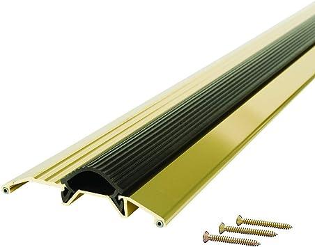 M D Building Products 9043 M D 0 Deluxe Low Threshold With Vinyl Seal 36 In L X 3 3 4 In W X 3 4 In H 3 3 4 W X3 4 H Brite Gold Door Thresholds Amazon Com
