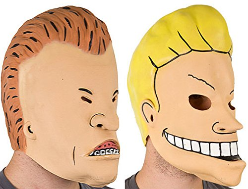 Beavis And Butthead Funny Vinyl 3/4 Mask Set 2 Masks Adult Humor Costume Mtv