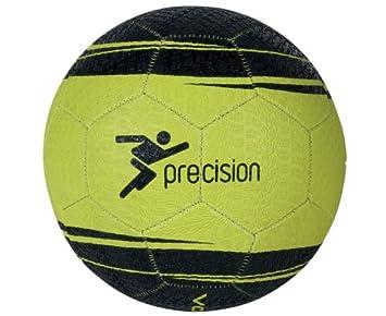 838f033cb9f2f PRECISION Ballon de football Vortex Street Mania Hard Ground, Jaune  Fluo/Noir, 5