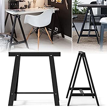 Set de 2 sólido Durable madera Caballete patas para mesa ...