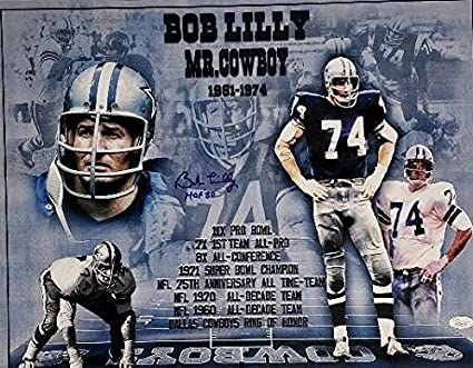 2e72727d06f Image Unavailable. Image not available for. Color: Bob Lilly Autographed  Signed Dallas Cowboys 16x20 Football Photo #1 Memorabilia ...