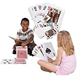 "Giant Jumbo Deck of Big Playing Cards Fun Full Poker Game Set - Measures 8-1/4"" x 11-3/4"" by Super Z Outlet®"