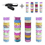 ABOUT PRODUCT:Material: Paper.Dimensions: Width 0.59inch (1.5cm), length 9.84ft (3m) each roll.Package includes: Washi tape set of 40 rolls ( A set of 10 rolls in solid color + 30 rolls with patterns by freedom)How to use it:Use them f...