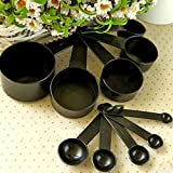 CHOUREN New 10Pcs Plastic Measuring Cups & Spoons Set Coffee Baking Cooking Kitchen Tool