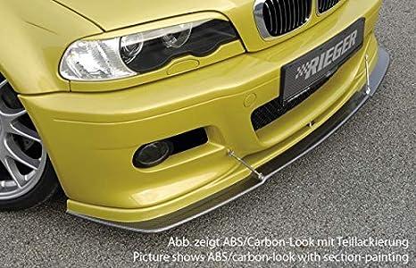 Rieger Frontal Alerón Labio Aspecto de Carbono para BMW 3 E46 M3: 06.00 de: Amazon.es: Coche y moto
