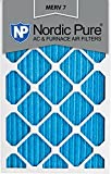 Nordic Pure 14x25x1M7-12 MERV 7 Pleated AC Furnace Air Filter, 14x25x1, Box of 12