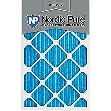 Nordic Pure 20x25x1M7-6 MERV 7 Pleated AC Furnace Air Filter, 20x25x1, Box of 6