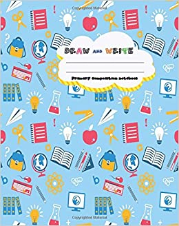 Amazon Com Draw And Write Primary Composition Notebook 8 X