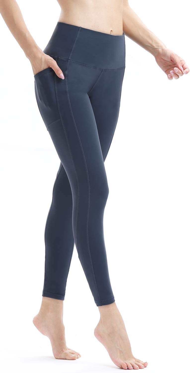 bdfb5649e95bb Amazon.com: Persit Yoga Pants for Women High Waisted Leggings Tummy Control Athletic  Running Workout Yoga Leggings with Pockets - Ture Navy - S: Sports & ...