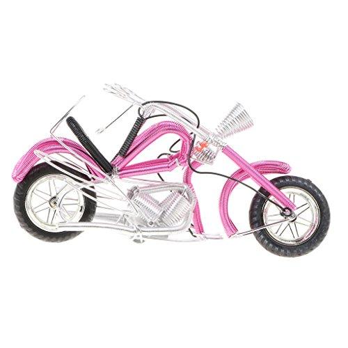 B Blesiya ホーム装飾 置き物 コレクション ハーレー ダビッドソン オートバイ模型 バイクモデル おもちゃ 4色選択  - ピンク