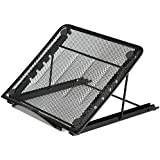 AUCH Portable Folding/Adjustable Mesh Laptop Notebook/ Book/ipad Table /Desk/ Tray /Stand /Cooling Stand,Black