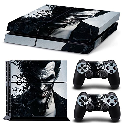 ZoomHit Ps4 Playstation 4 Console Skin Decal Sticker The Joker + 2 Controller Skins Set