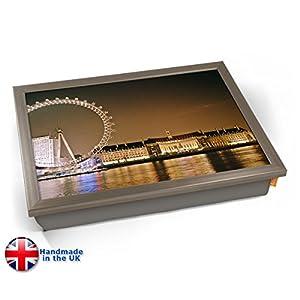 Kico London Eye Millennium Wheel Cushion Lap Tray - Chrome Effect Frame