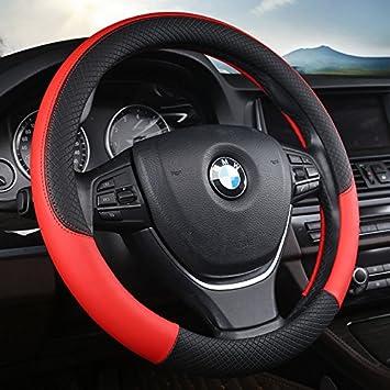 P H Plain Effekt Displayschutzfolie Universal Rot PU Leder Auto Van Lenkrad Coverr Grosse