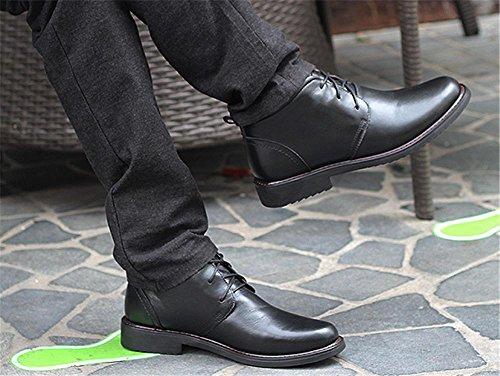 Negro Forrado Cordones Casuales 39 Con Zapatos 48 44 Talla La Hombre Zapatillas Cuero A De Derby Deporte 44 Botines Black Nieve Swnx Black P7n6n