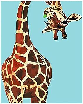 Agolong Pintura de DIY de la Jirafa Abstracta por números Animales ...