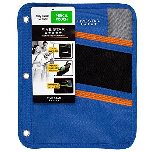 Price comparison product image Five Star Zipper Pencil Pouch, Pencil Case, Blue (73114)