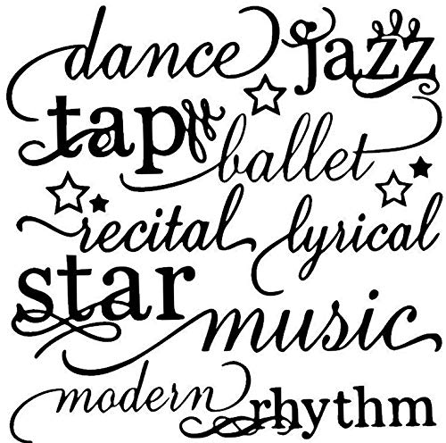 Dance Collage - Waldenn Dance Words Lettering Wall Decal Subway Art Sticker Quote Saying Decor | Model DCR - 1539