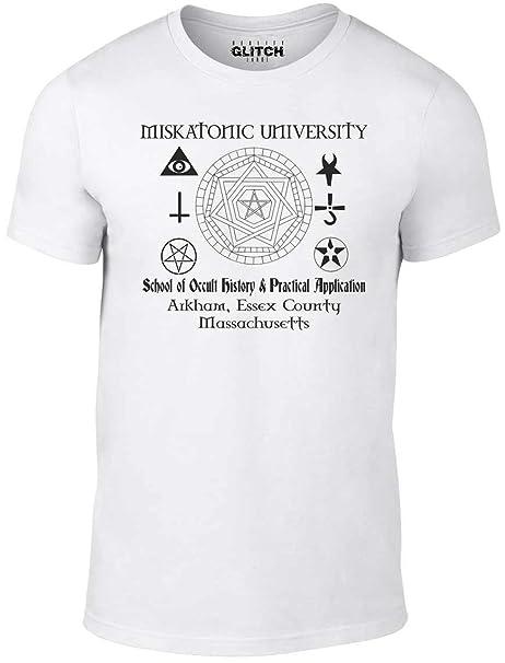 Bullshirt Miskatonic Mochilas Escolares con University para Hombre es lo Oculto Dibujo de Homer e inscripción