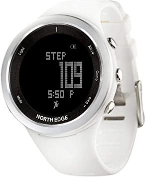 North ED Fitness Tracker Pulsera Inteligente Fitness Tracker-Keng Mujeres Digital Relojes Deportes Reloj Blanco para ...