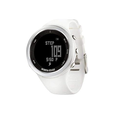 North ED Fitness Tracker Pulsera Inteligente Fitness Tracker-Keng Mujeres Digital Relojes Deportes Reloj Blanco