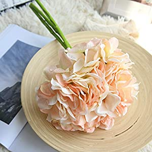 FIged Artificial Rose Bouquets with Ceramics Vase Fake Silk Rose Flowers Decoration for Table Home Office Wedding 2