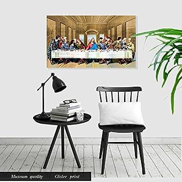Eliteart- Jesus Christ The Last Supper by Leonardo da Vinci Giclee Art Canvas Prints Home Decor 24 x12