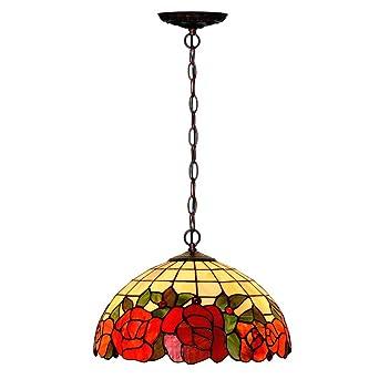 Lámpara colgante de techo estilo araña de estilo Tiffany de ...