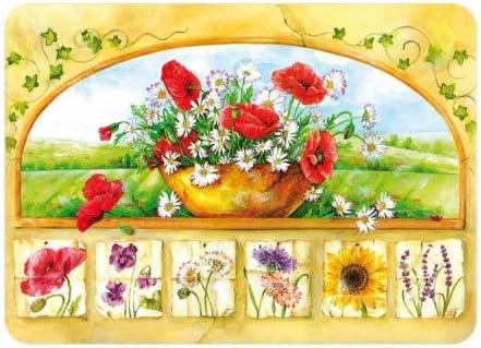 Tabla de cortar de cristal Premium tradicional Dise/ño de flores de tejones